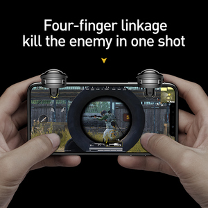 Image 2 - Baseus Pubg Controller for iPhone XR L1 R1 Gaming Trigger Pubg Mobile Gamepads Fire Button Smart Phone Mobile Shooter Controller