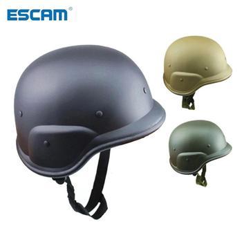 ESCAM kask hełm ochronny wojny światowej 2 niemieckie wojny hełmów stalowych niewyposażonych w armii na zajęcia na świeżym powietrzu jazda na rowerze z dżungli ochronne tanie i dobre opinie NONE CN (pochodzenie) Khaki Black Army green Unisex Field Jungle Helmet