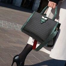Fashion Crocodile Pattern Women Handbag Leather Ladies Hand Bags