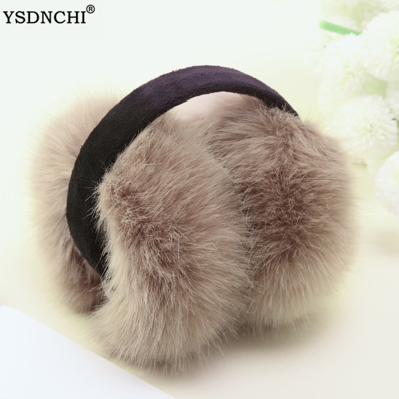 YSDNCHI Winter Earmuffs Warm Ear Muffs Women Fluffy Earmuffs Solid Ear Warmers Soft Plush Earmuffs Girl Ear Muffs Earlap 1pc
