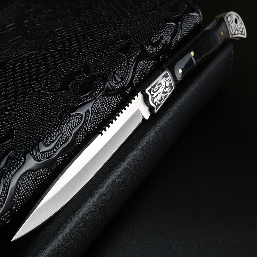 XUAN FENG Outdoor Jungle Knife Wild Survival Straight Knife Camping Tactical Military Pocket Knife Hunting Folding Knife