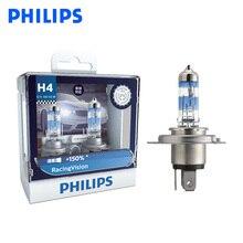 Philips H4 9003 12V Racing Vision +150% More Bright Car Headlight Hi/lo Beam Halogen Lamp Rally Performance ECE 12342RV S2, Pair