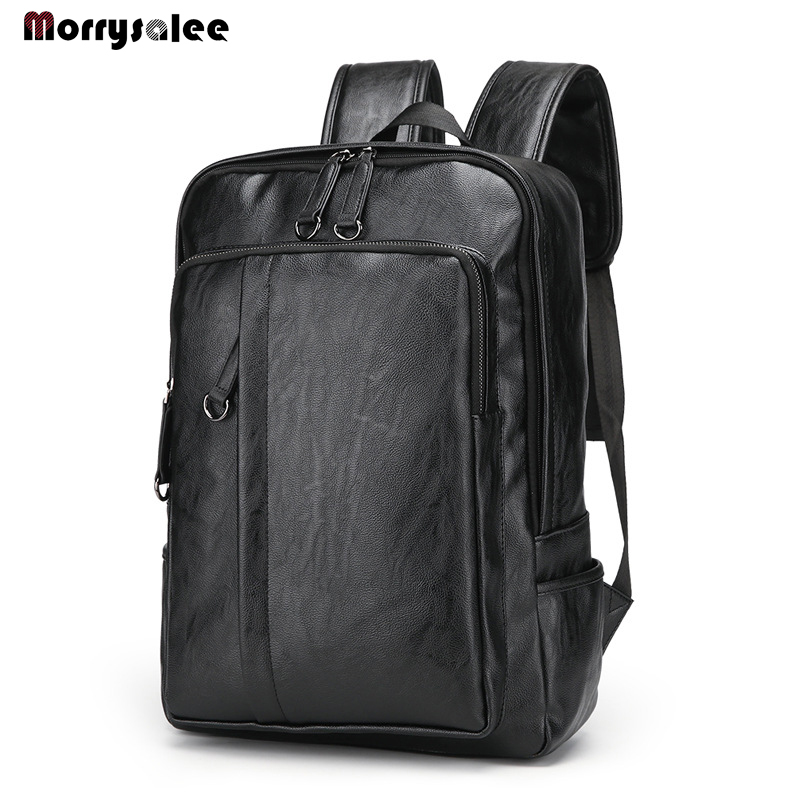 2020 New Leisure Soft General Leather Backpack Men Teenager Male Large Capacity Laptop Backpack High Quality Students Travel Bag