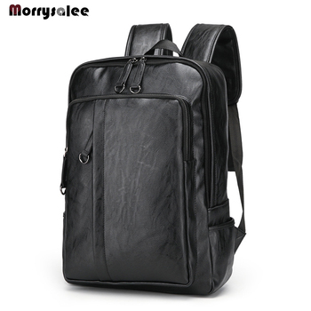 2020 New Leisure Soft General Leather Backpack Men Teenager Male Large Capacity Laptop Backpack High Quality Students Travel Bag men backpack business oxford laptop bag large capacity male travel bag high quality women student school backpacks for teenager