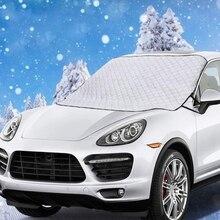 Лобовое стекло автомобиля Снежный чехол, лобовое стекло автомобиля Снежный лед крышка с 4 слоями защиты, снег, лед, УФ, защита от мороза, очень большая ветровка