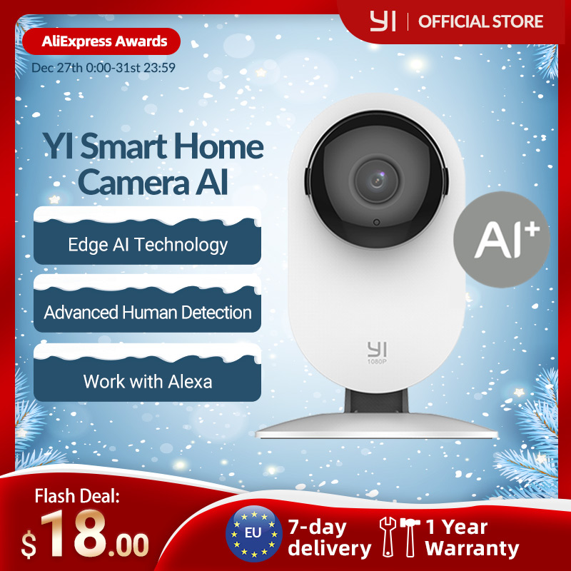 YI Home 1080p Camera 2.4G Wifi Indoor ip Camera AI Human detection Night vision Activity alerts Cameras for home/Cats/pets/Cloud|Surveillance Cameras| - AliExpress