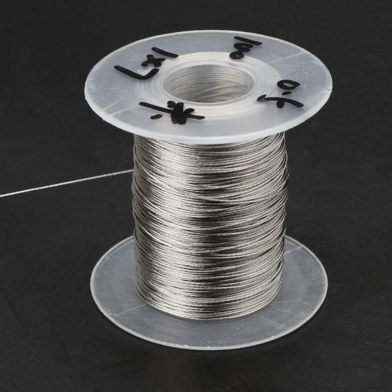 100m 304 Stainless Steel Wire Rope Soft Fishing Lifting Cable 1×7 Clothesline With 30 Aluminum Ferrules D08F