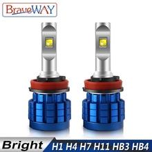 BraveWay LED مصباح للسيارات المصابيح الأمامية H4 H8 H9 H11 HB3 HB4 9005 9006 H7 LED H7 Canbus H11 LED لمبة للسيارات ضوء لمبة autooveis