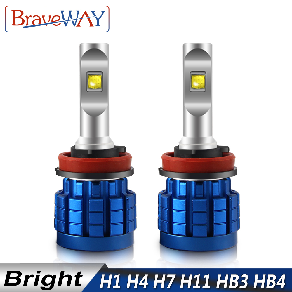 BraveWay <font><b>LED</b></font> Lamp for Auto Headlights <font><b>H4</b></font> H8 H9 H11 HB3 HB4 9005 9006 H7 <font><b>LED</b></font> H7 Canbus H11 <font><b>LED</b></font> Bulb for Car Light Bulb Automoveis image