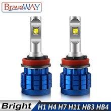 Braveway ledランプ自動車ヘッドライト用H4 H8 H9 H11 HB3 HB4 9005 9006 H7 led H7 canbus H11 led電球電球automoveis