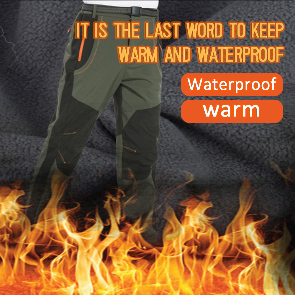 Winter Men Hiking Pants Outdoor Trekking Softshell Women Trousers Waterproof Windproof Thermal Camping Skiing Plus Size Pants