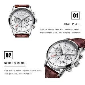 Image 5 - LIGE Brand Leather Brown Strap Waterproof Luminous Dial Chronograph Top Luxury Quartz Military Sport Mens Watch Reloj Hombre