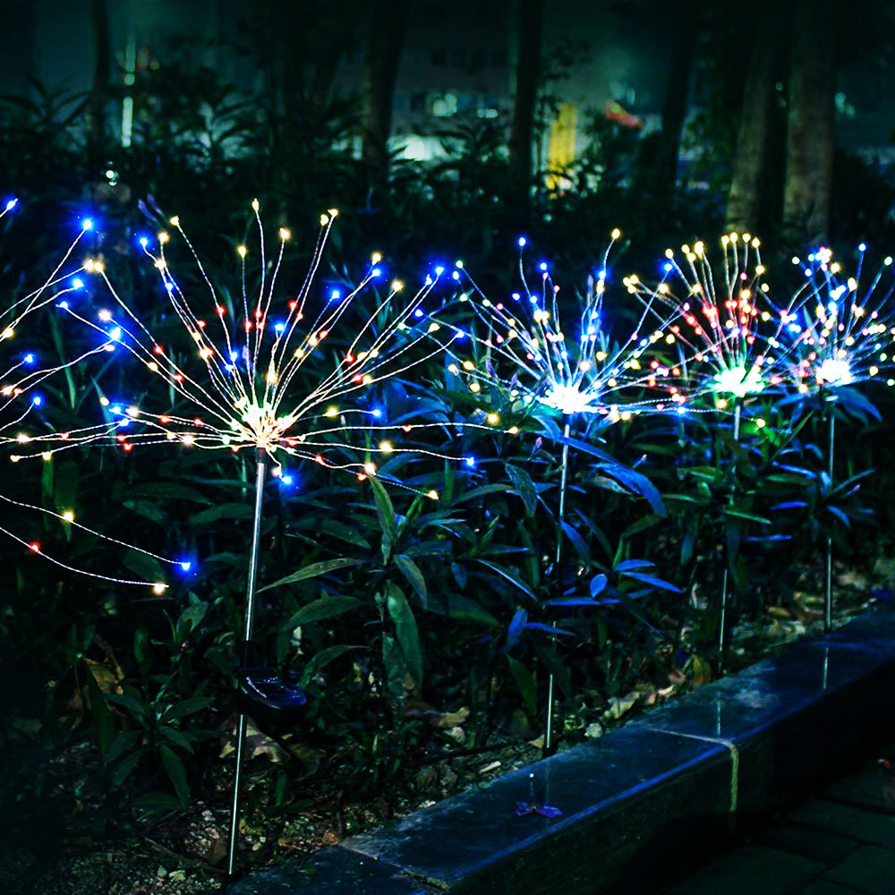 Garden Solar Lights Firework Christmas Landscape Path Lawn Lamp Outdoor Waterproof Garden Decoration Light Patio Yard Led Lamps