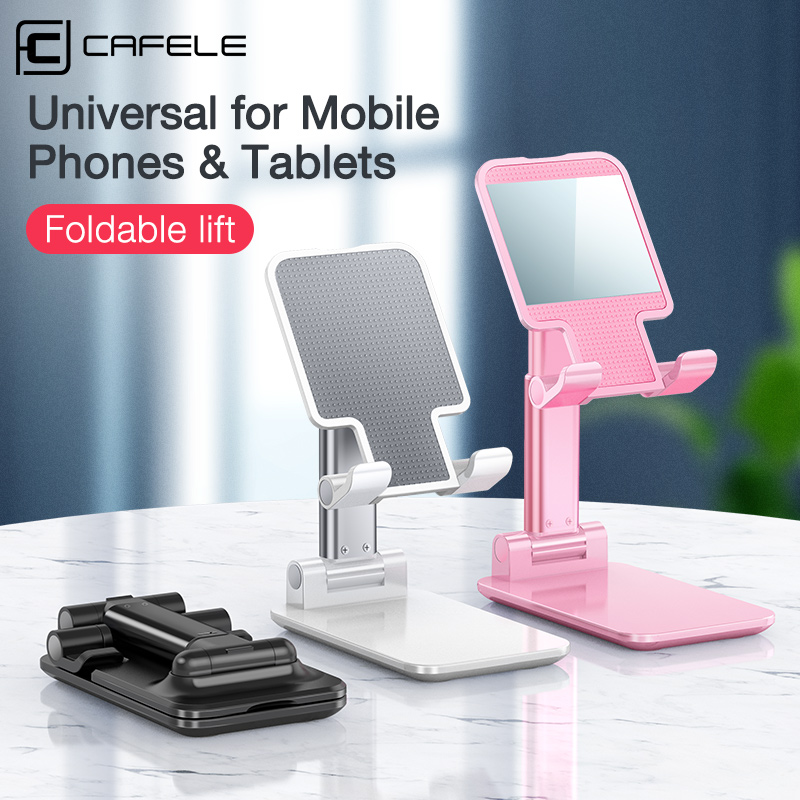 Cafele Universal Desktop Phone Holder For Huawei IPhone Xiaomi Samsung Adjustable Mobile Phone Holder Stand For Tablet IPad