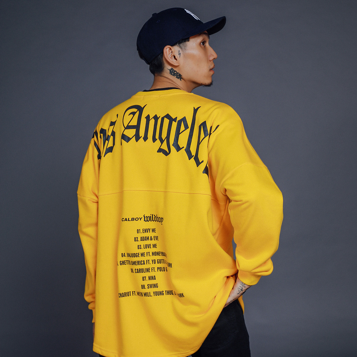 Angeles Letter Printed Sweatshirts For Men Streetwear Hip Hop Japan Street Pullover Rapper Sports Skateboard Sweatshirts Hoodies