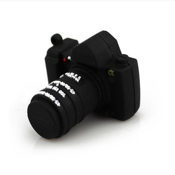 Brand New Cartoon Silicone Camera Shape USB 2.0 Memory flash stick pen drive with round tin box