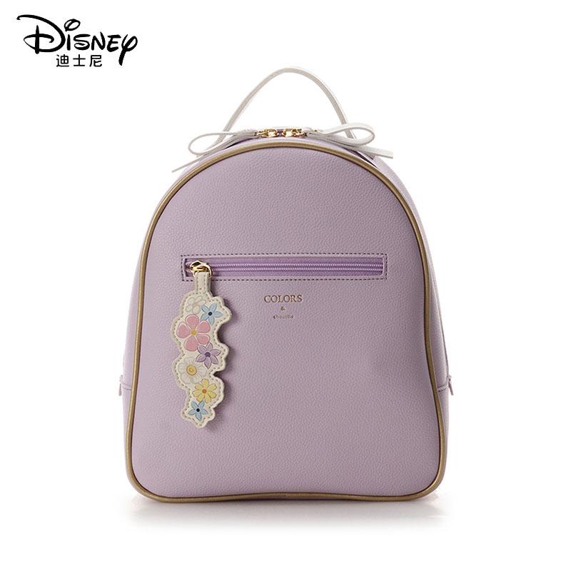 Disney New Women Backpack Rapunzel Princess Wild Backpack School Bag Leather Laptop Backpack Princess Classic Printing Backpack