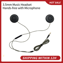 Wired Headphones Motorbike Intercom Helmet High quality 3.5mm Music Headset Hands free with Microphone for Motorcycle Rider