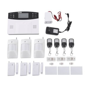 Wireless GSM Home Security Alarm System Detector Sensor Call LCD Screen Intelligent Auto Door Alarm System(China)