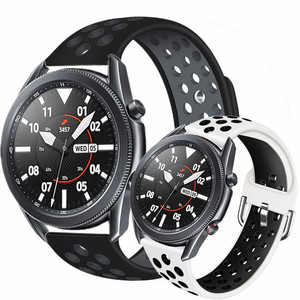 Bands for samsung galaxy watch 3 band 45mm 41mm active 2 sport strap for amazfit bip gts gtr huawei watch gt 2e Silicone correa
