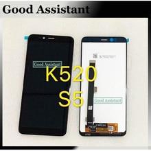 أسود 5.7 بوصة لينوفو S5 K520 كامل شاشة الكريستال السائل مجموعة المحولات الرقمية لشاشة تعمل بلمس استبدال أجزاء