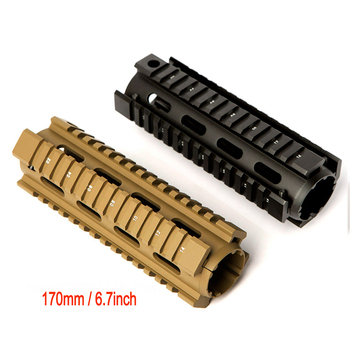TOtrait 6.7 inch AR15 M4 Carbine Handguard RIS Drop-in Quad Rail Mount Tactical Free Float Airsoft AR-15 Rifle Gun Accessories tactical two piece drop in free float keymod handguard scope sight mount for airsoft h