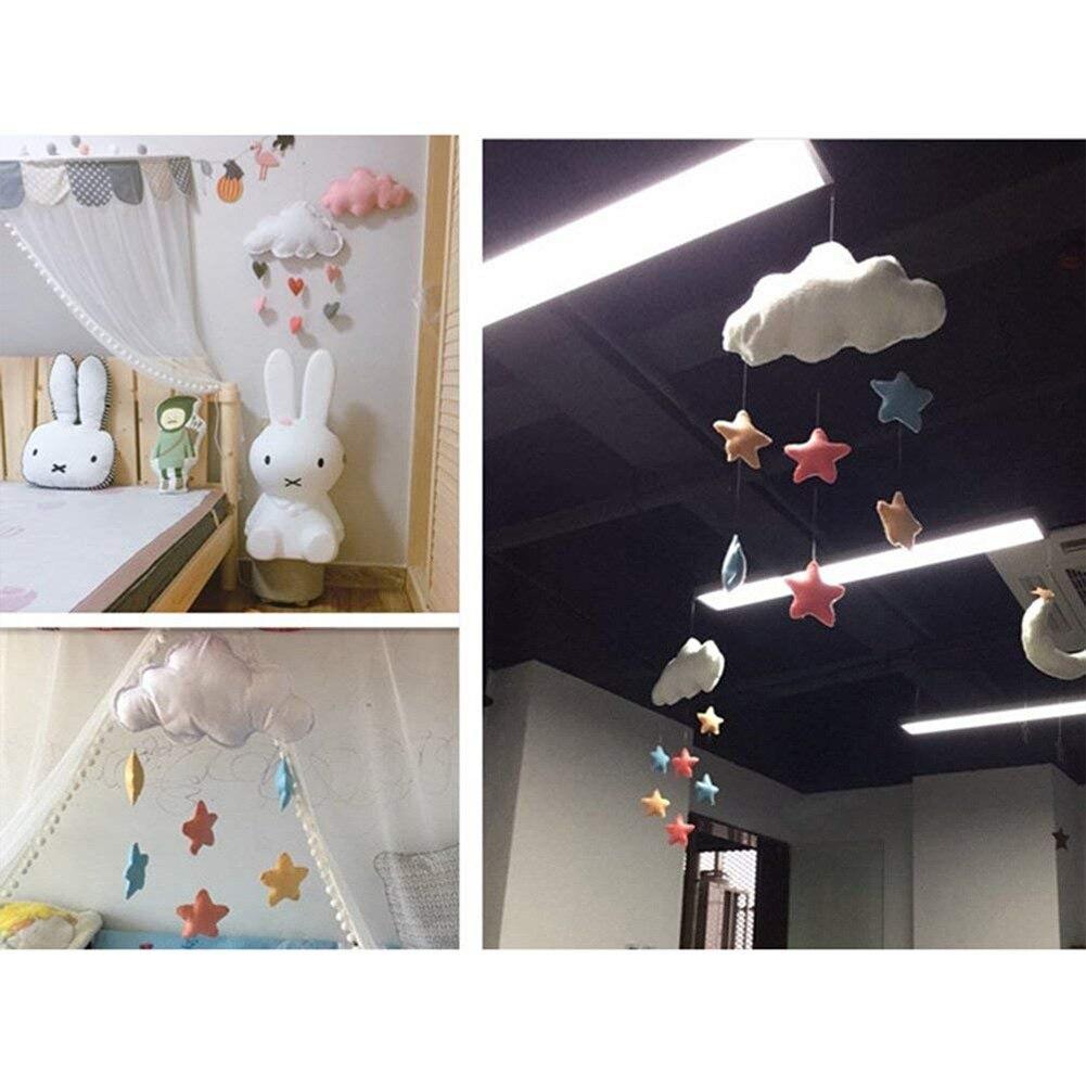 Baby Hanging Pendant Felt Children Bedroom Cloud Mobile Loving Heart Gift Home Decor Ceiling