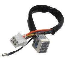Светодиодный универсальный цифровой индикатор передачи мотоцикла 8 цифровой дисплей Спидометр индикатор мотоцикла дисплей рычажный датчик переключения