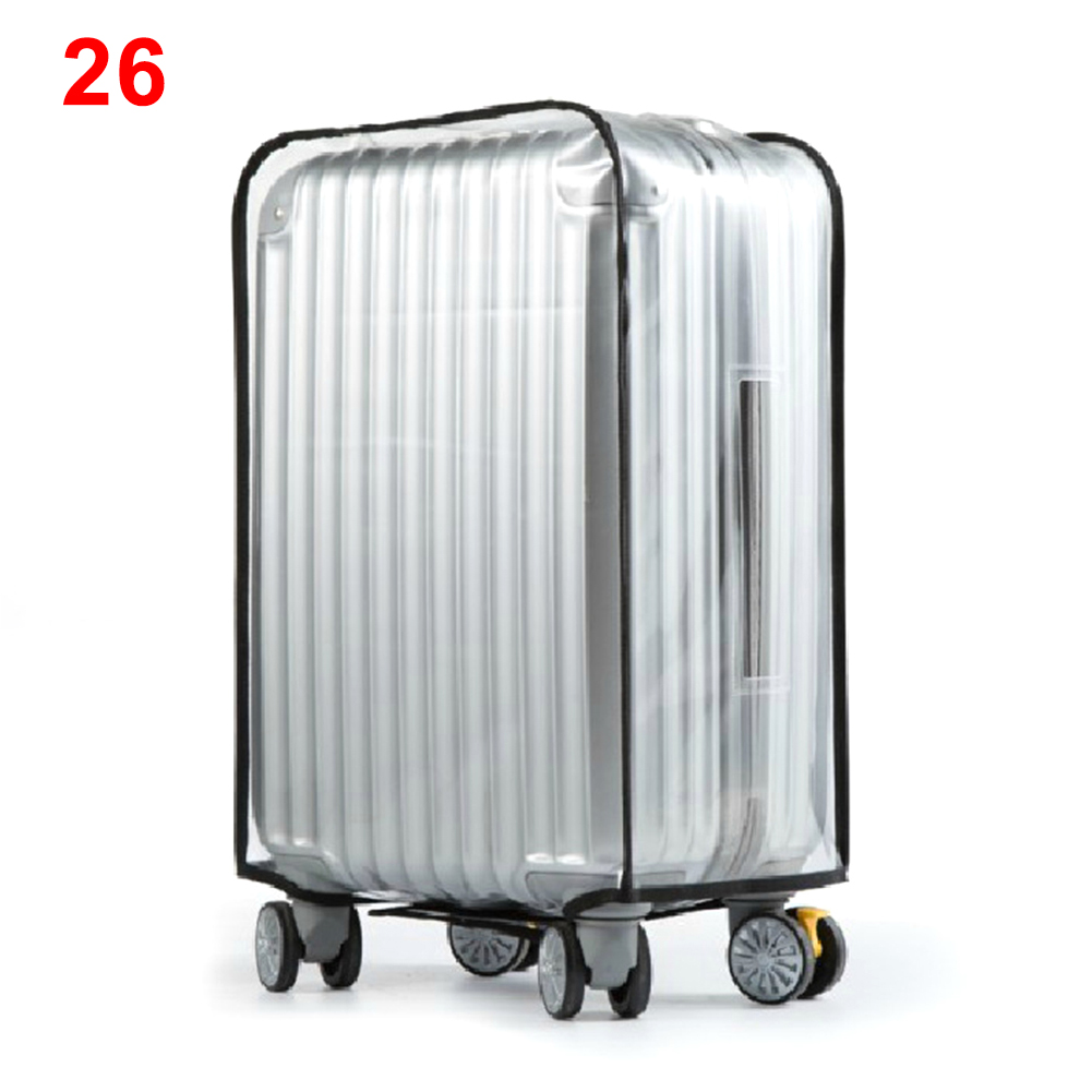 Reusable Suitcase Cover Accessories Storage Frosted Transparent PVC Waterproof Luggage Travel Supplies Useful Zipper Dust Proof