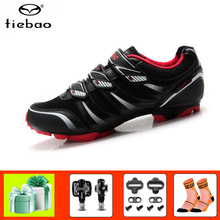 цены Tiebao mountain bike shoes sapatilha ciclismo mtb outdoor sneakers SPD Pedals 2019 men women self-locking breathable bike shoes