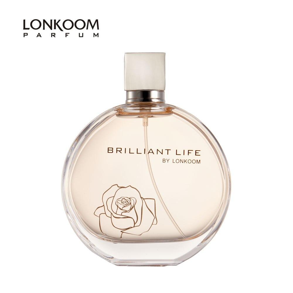 LONKOOM Original Parfüm für Frauen Floral-fruchtigen Aroma frauen Eau De Parfum Spray Brillante Leben 100ml Lange anhaltende Duft