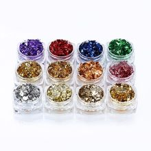 12 Color Gold Silver Foil Paper Sequins Resin Mold Fillings Resin Jewelry Making