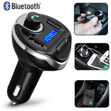 A Bluetooth Car Kit Type-C Usb Car Charger FM Transmitter Radio Wireless Hands-Free Car Kit Wireless Radio Hands-free Adapter bluetooth fm transmitter wireless in car radio transmitter adapter car kit universal car charger with dual usb charging ports