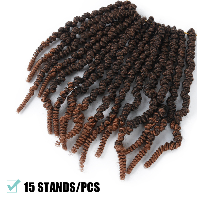 Super Deal Cc842b Pre Twisted Spring Twist Hair 8 Inch Passion Twists Crochet Braids For Bob Short Curly Bomb Twist Braiding Hair Extensions Cicig Co
