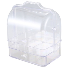 ABSS-акриловый Органайзер для макияжа, прозрачная косметическая коробка для хранения ювелирных изделий, двойная открытая крышка, женский косметический ящик для хранения, ящик Рабочий стол для макияжа