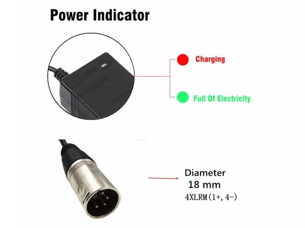 cheapest 36V Charger 42V 2A electric bike lithium battery charger for 36V lithium battery pack with 4-Pin XLR Socket connector