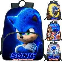 Grande mochila para estudantes sonic schoolbags nova mochila para meninos meninas uso diário sacos de livro adolescentes mochila de viagem