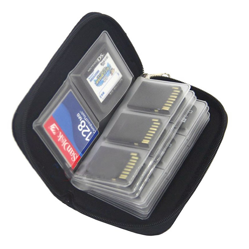 Memory Card Storage Bag Carrying Case Holder Wallet 22 Slots for CF/SD/Micro SD/SDHC/MS/DS Game Accessories memory card box 1
