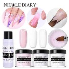 NICOLE DIARY Acrylic Powder 10ml Tip Extension French Nail Polymer Powder Nail  Builder  Nail Polymer Nail Tools