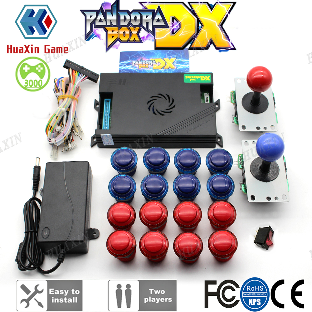 DIY Arcade Kit Sanwa Joystick Pandora Box DX Family Version 3000 In 1 Have 3d And 3P 4P Game Can Save Game Progress Function
