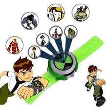 1 pçs menino 10 relógios omnitrix força alienígena energia verde quatro braços heatblast figuras de ação estilo projetor imagens presente do miúdo brinquedo