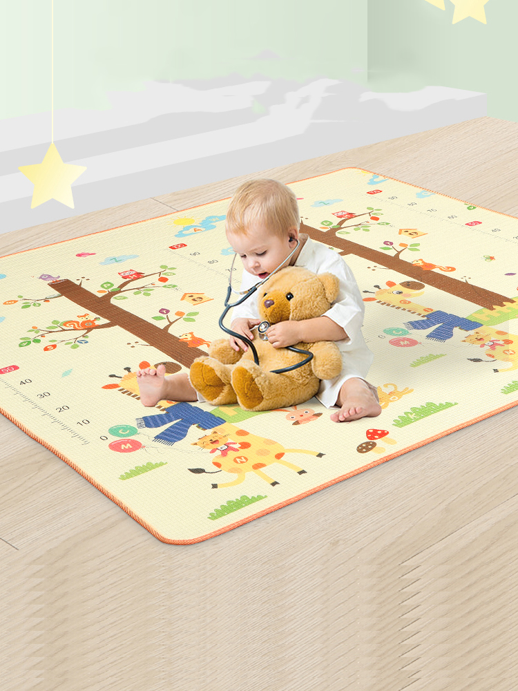 Babys Bedroom Dark Blue 100 x 200 cm Blivener Coral Velvet Tatami Rugs Children Play Mat Thick Soft Nursery Rug Protect Carpets Crawling Mat for Living Room