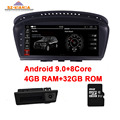 Автомобильный DVD-плеер для BMW  4 Гб ОЗУ + 32 Гб ПЗУ  8 ядер  Android 9 0  5 серий  E60  E61  E63  E64  E90  E91  E92  CCC  CIC  Wi-Fi  GPS  Bluetooth  радио