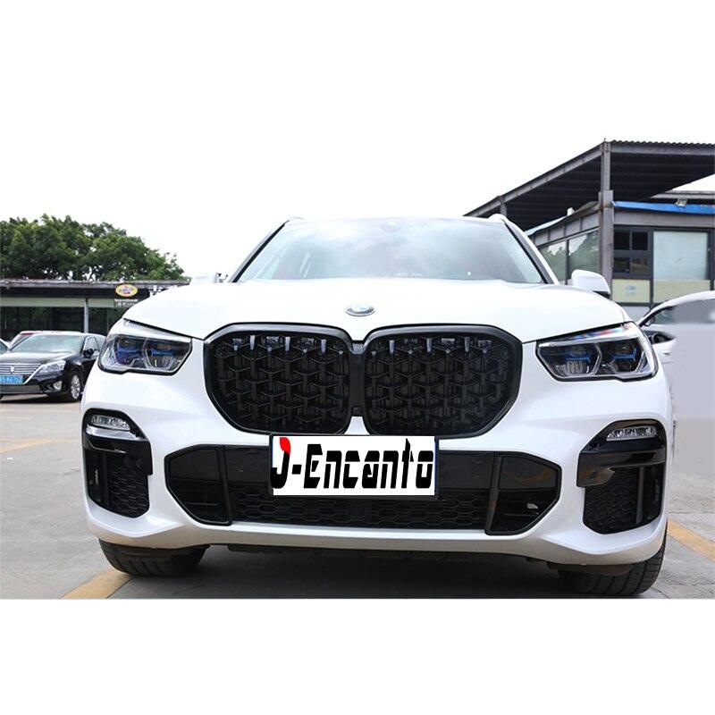 Пара новых ромбовидных фасонных решеток для BMW New X5 G05 Решетка переднего бампера Стайлинг автомобильной решетки 2019 - 2