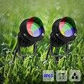 Extérieur LED jardin pelouse lumière 10W paysage lampe pic étanche IP65 AC 110-240V/DC12V COB RGB Yard chemin route pelouse spots