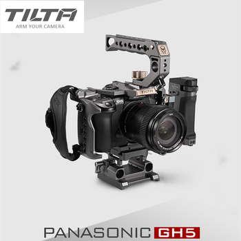 Tilta DSLR Rig camera Cage FOR Panasonic Lumix GH5 GH5S gh4 rig Kit TA-T37-A-G top handle side focus handle camera cage protecting case mount with top handle grip for panasonic lumix gh5 camera photo studio kit