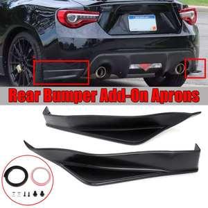 2PCS Car Rear Bumper Splitter Lip Diffuser Spoiler Cover Trim Add-On For Aero Side Aprons For Subaru BRZ Sti TS Style 013-2018