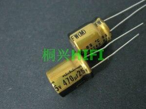 Image 1 - 20pcs NEW NICHICON FW 470UF 25V 10X12.5MM audio 470uf/25v Electrolytic Capacitor 25V470uF filter amplifier 25v 470uf