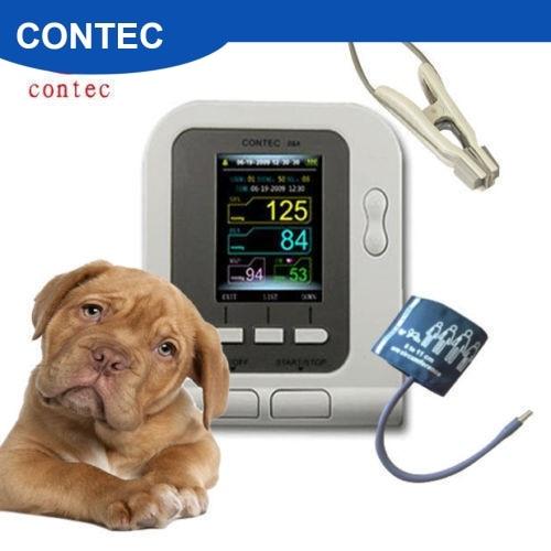 FDA Vet Veterinary OLED Digital Blood Pressure&Heart Beat Monitor NIBP CONTEC08A SPO2 Animal CONTEC Dog/Cat/Pets