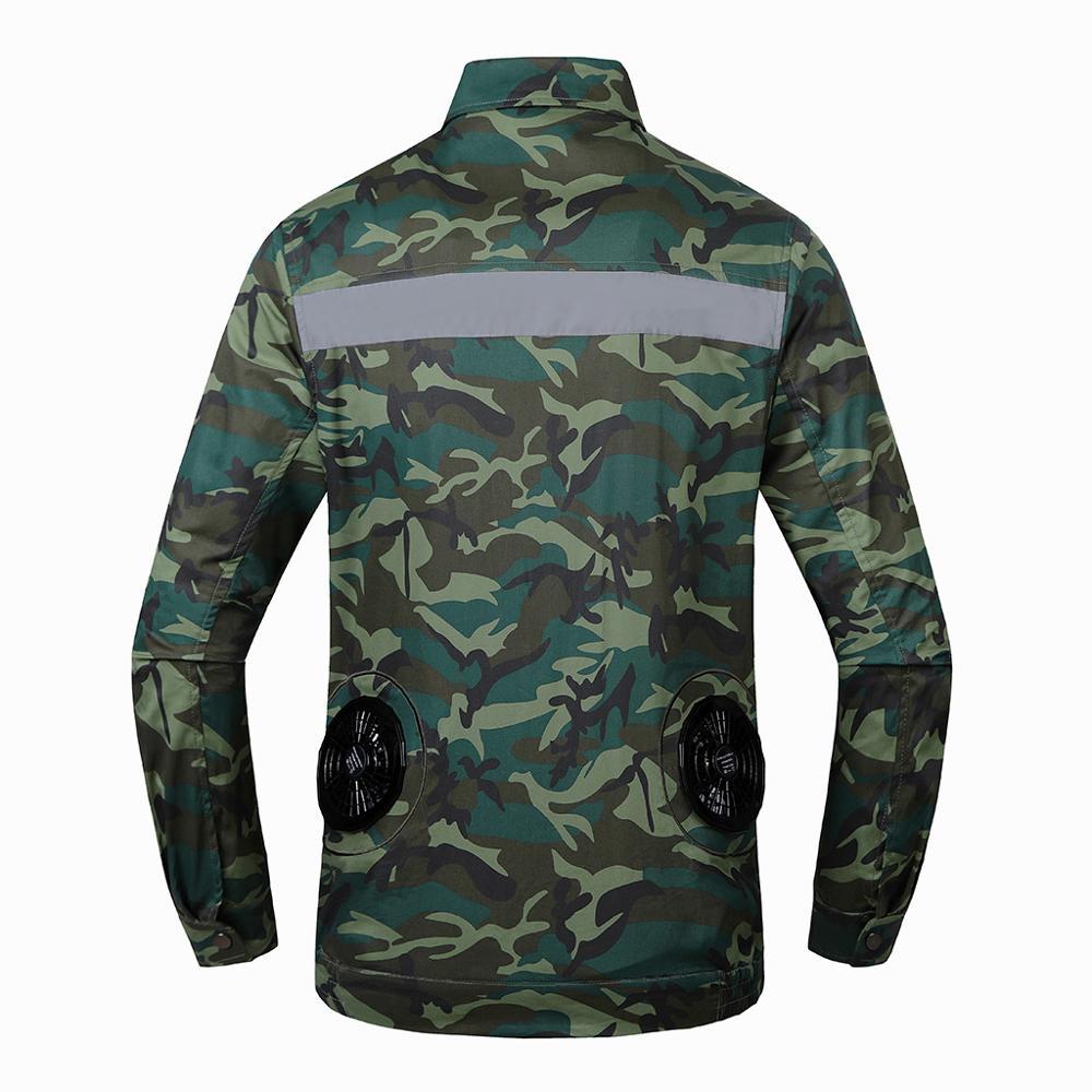 Hommes climatisation coup de chaleur contre mesures extérieur vestes vêtements de travail grande taille Camouflage imprimé imperméable manteau - 2